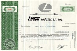 Larson Industries, Inc. - Minnesota 1975 ( Larson Boat Works and Glasspar Boat Company  )