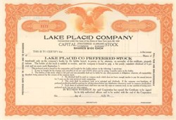 Lake Placid Company - Essex County, New York 1920