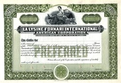 La Lysine Fornari International American Corporation - Delaware