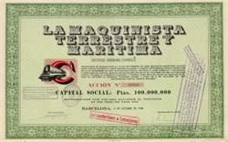 La Maquinista Maritima Spain 1948