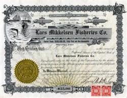 Lars Mikkelsen Fisheries Company,   Washington 1916
