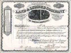 Land and Lumber Company of North Carolina - 1873