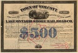 Lake Ontario Shore Rail Road Co. - Wolcott, New York 1882