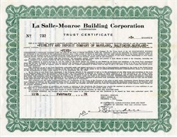 La Salle-Monroe Building Corporation - Illinois 1939