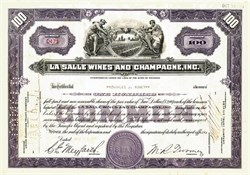 La Salle Wines and Champagne, Inc. - 1940
