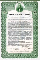 Lassen Electric Company ( California ) 1921 - Abe Lincoln Vignette