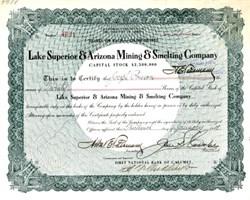 Lake Superior & Arizona Mining & Smelting Company - 1909