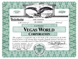 Vegas World Corporation  ( Now Stratosphere Hotel ) - 1987