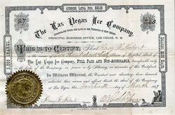 Las Vegas Ice Company - Territory of New Mexico 1883