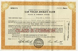 Las Vegas Jockey Club ( Became Las Vegas Hilton) - Nevada 1953