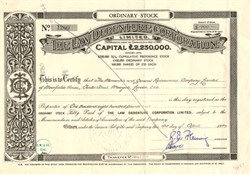 Law Debenture Corporation - England 1954