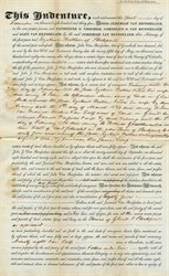 Indenture signed by Jeremiah Van Rensselaer regarding Glen Van Rensselaer; Catharine G. Visscher, Cornelius G Van Rensselaer - 1834
