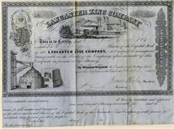 Lancaster Zinc Company - New York - Lancaster, Pennsylvania 1854