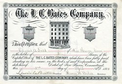 L. C. Bates Company - New Haven, Connecticut 1894