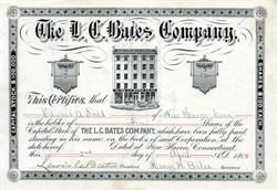 L. C. Bates Company - New Haven, Connecticut 1894
