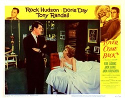 Lover Come Back  Lobby Card Starring Rock Hudson, Doris Day and Tony Randall - 1962