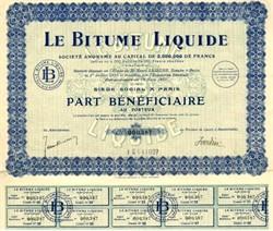 Le Bitume Liquide - France 1927