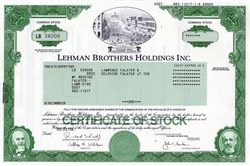 Lehman Brothers Holdings, Inc. ( Pre Bankruptcy)  issued to Fred Fuld  - 2008