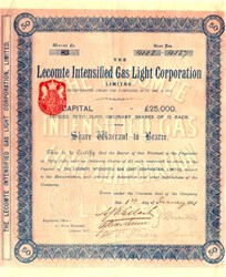 Lecomte Intensified Gas Light Corporation - 1901