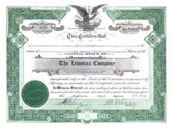 Lemorax Company - Nevada 1927 - Toothpaste maker