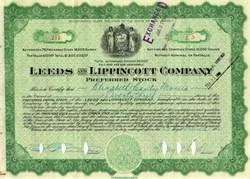 Leeds & Lippincott Company 1921