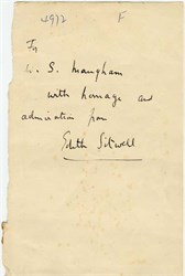 Signed Note from Edith Sitwell