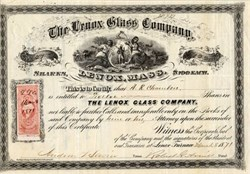 Lenox Glass Company - Lenox, Massachusetts1871