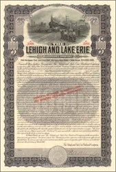 Lehigh and Lake Erie Railroad Company Gold Bond - 1907