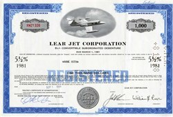 Lear Jet Corporation (William Lear as President)  - New York 1978