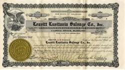 Leavitt Lusitania Salvage Company - Delaware 1924