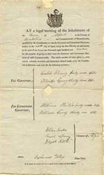 Governor Election Summary - Alford, Massachusetts 1812