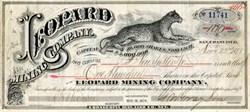 Leopard Mining Company - San Francisco 1877