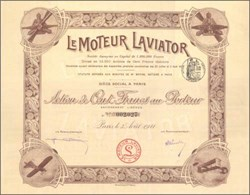 Le Moteur Laviator 1911 - Early Airplane Vignettes