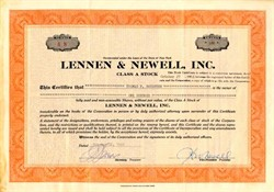 Lennen & Newell, Inc. ( Famous National Adverstiing Agency ) - New York 1952