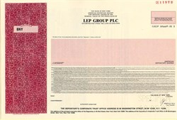 LEP Group PLC - England 1988