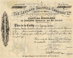 Leyland Shipping Company Ltd.. - England 1896