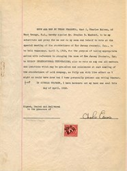 Letter signed by Charles Edison - New Jersey 1918