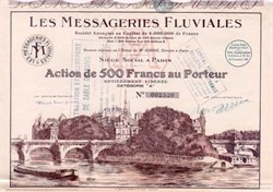 Les Messageries Fluviales 1927 - France River Vignette
