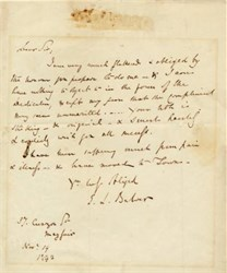 Letter written by E.L. Bulwer  -1842