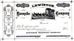 Lewiston Turnpike Company 1870's California