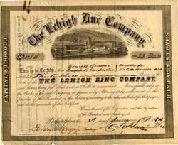 Lehigh Zinc Company - Pennsylvania 1874
