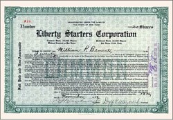 Liberty Starters Corporation 1919 - Made Starters for Ford (famous law case)