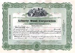 Liberty Steel Corporation 1919 - New Jersey