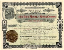 Little Butte Mining and Milling Company - California 1897