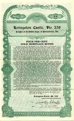 Livingston Castle Gold Bond - Pennsylvania 1922