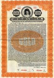 Lion Collars & Shirts, Inc. - New York 1922