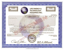 Life Energy & Technology Holdings Inc.