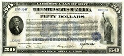 $50 Liberty Loan Bond of 1917 - Full Set of 60 Coupons - RARE