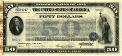Liberty Loan Bond of 1917 -  24 Unused Coupons