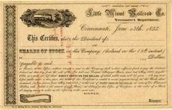 Little Miami Railroad Co. - Cinncinnati, Ohio 1855